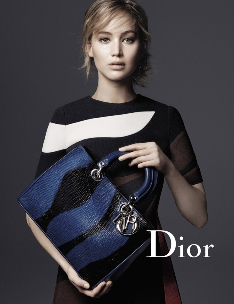 Jennifer Lawrence Dior Handbag Fall 2015 Campaign
