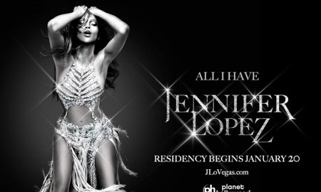 Jennifer Lopez debuts promotional poster for her Las Vegas residency named 'All I Have'. Jennifer will begin performing at Planet Hollywood on January 20th.