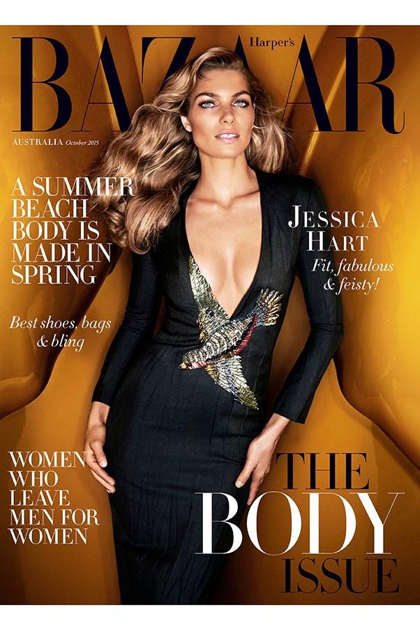 Jessica Hart on Harper's Bazaar Australia October 2015 cover