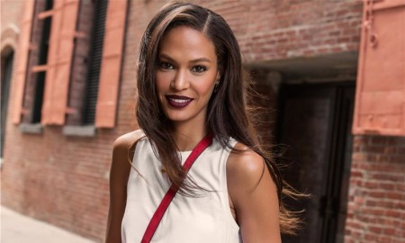 Joan Smalls wears Estee Lauder's new matte lipstick collection