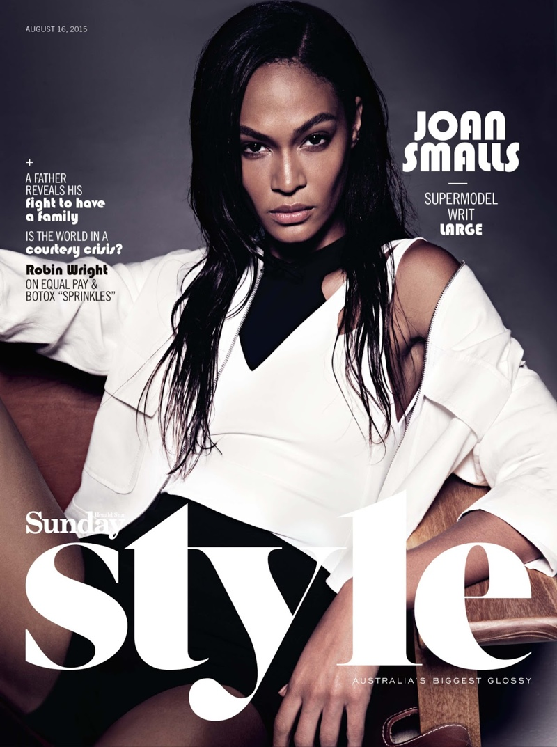 Joan Smalls on Sunday Style Australia August 16, 2015 cover