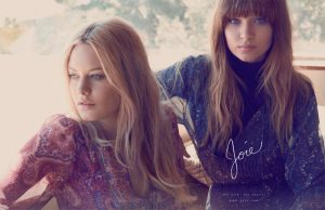 Camille Rowe + Josephine Skriver Go Retro for Joie's Fall 2015 Campaign
