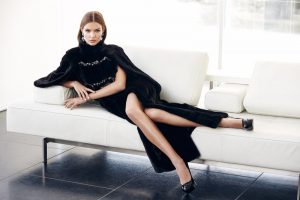 Josphine Skriver Models Luxe Furs for NAFA