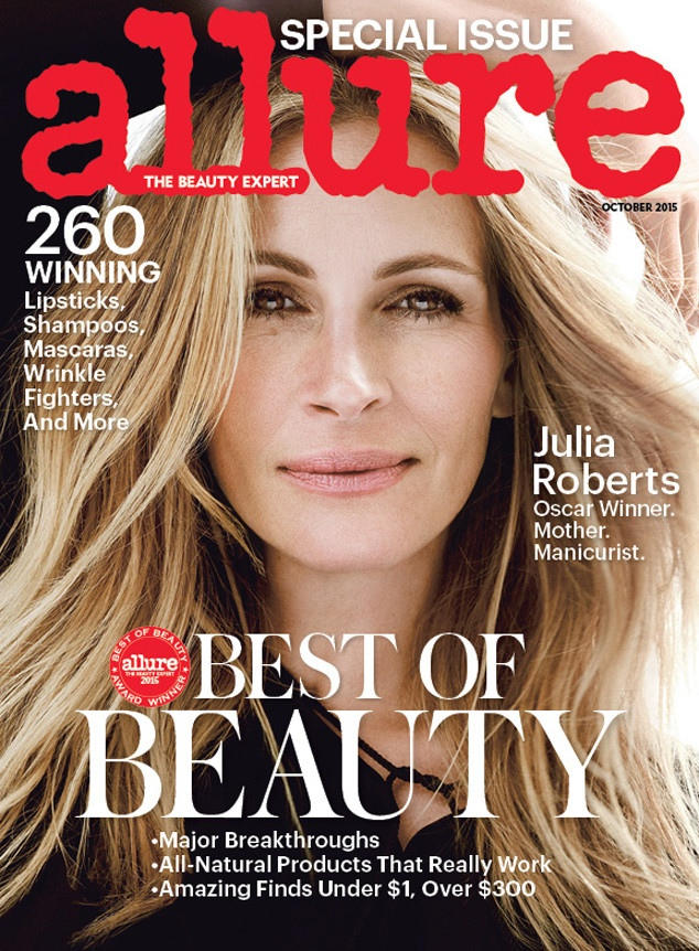 Julia Roberts on Allure Magazine October 2015 cover