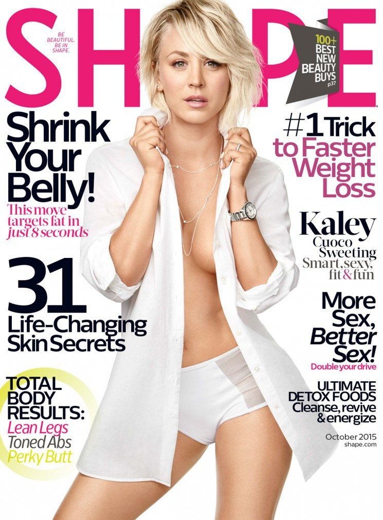 Kaley Cuoco - Shape Magazine Cover Story