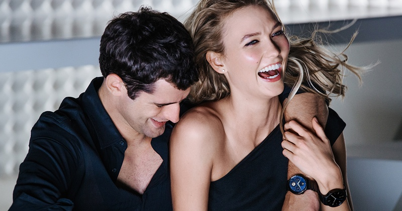 BEHIND THE SCENES: Karlie and Sean have a moment of laughter on set of Huawei Watch shoot with Mario Testino