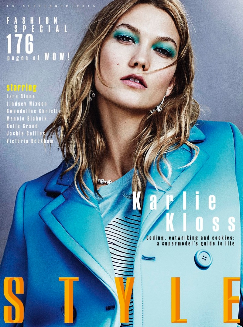 Karlie Kloss on Sunday Times Style September 2015 cover
