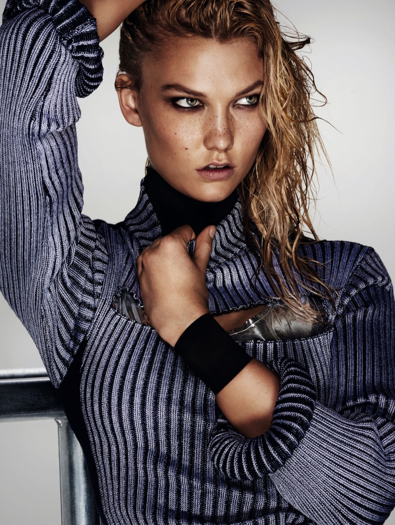 Karlie Kloss Turns Up the Heat for Vogue China Editorial