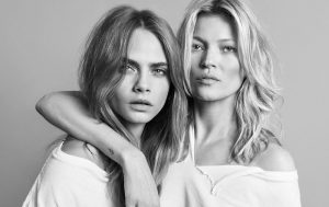 Kate Moss & Cara Delevingne Have A Sexy Pose Off