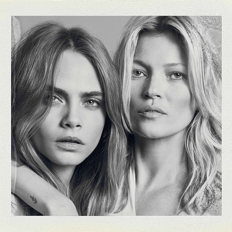 Kate Moss and Cara Delevingne for Mango