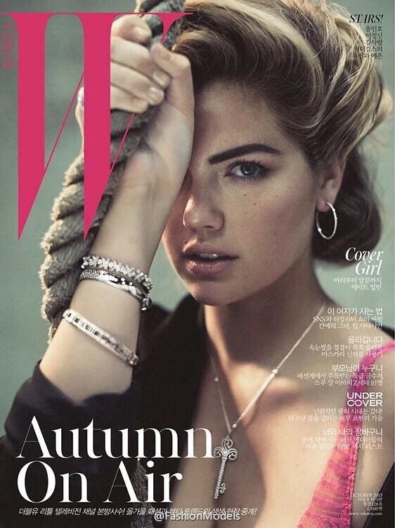 Kate Upton on W Korea October 2015 cover