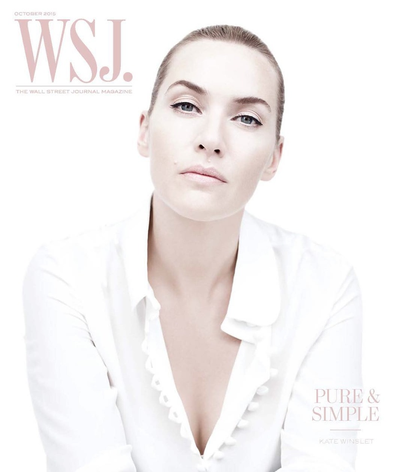 Kate Winslet on WSJ. Magazine October 2015 cover