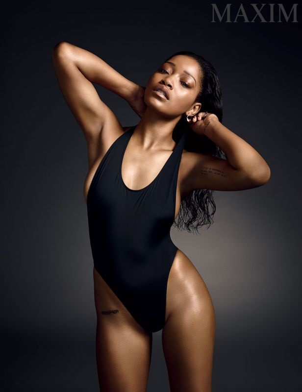 Keke Palmer poses in the October issue of Maxim Magazine