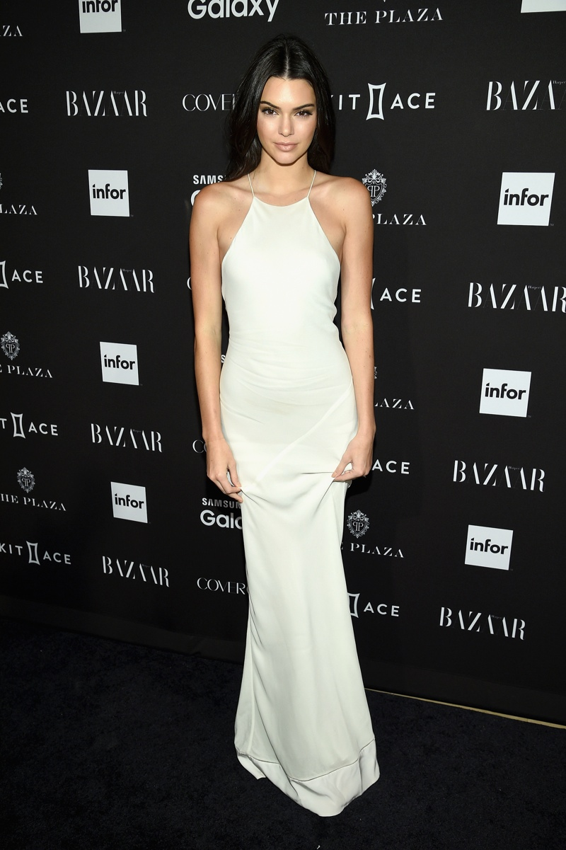 Kendall Jenner Looks Ethereal in White at BAZAAR Icons Event