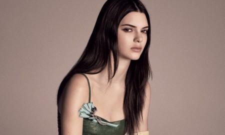 Kendall models Prada dress
