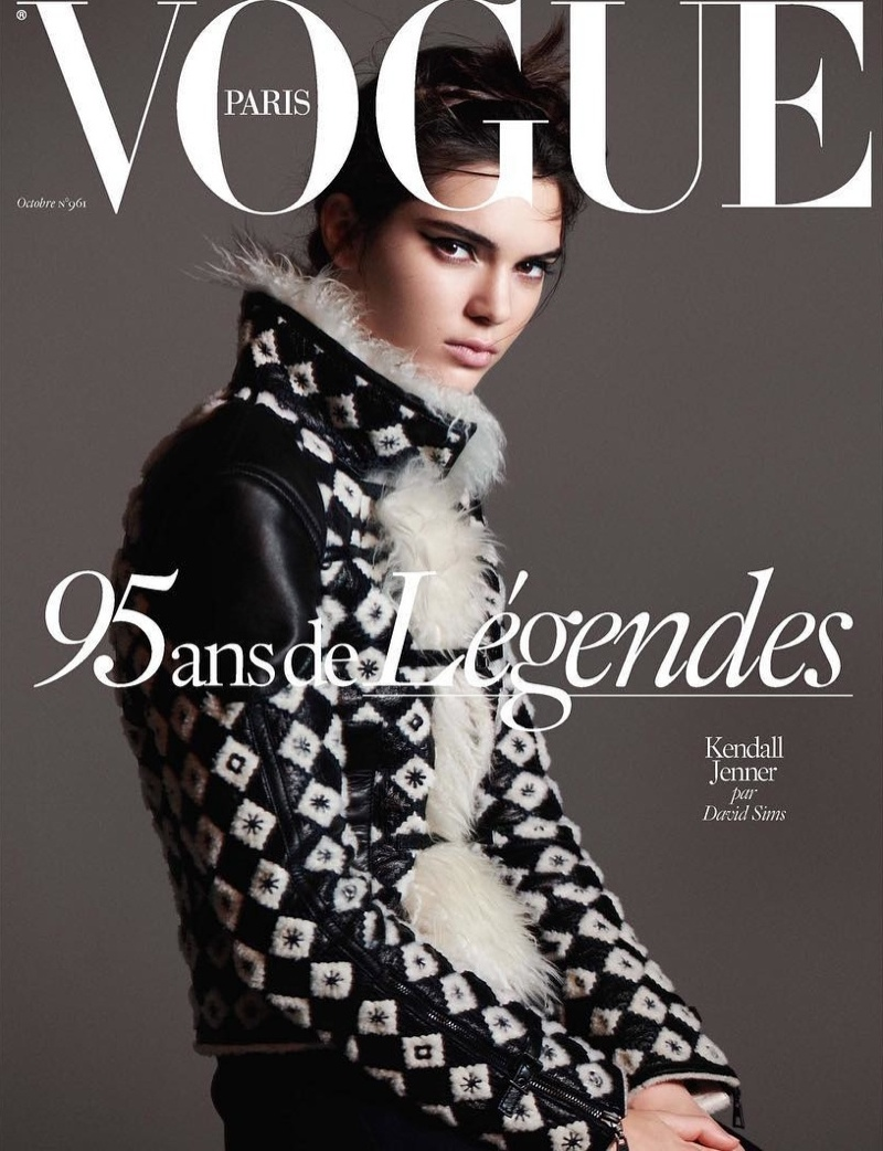Kendall Jenner on Vogue Paris October 2015 cover by David Sims