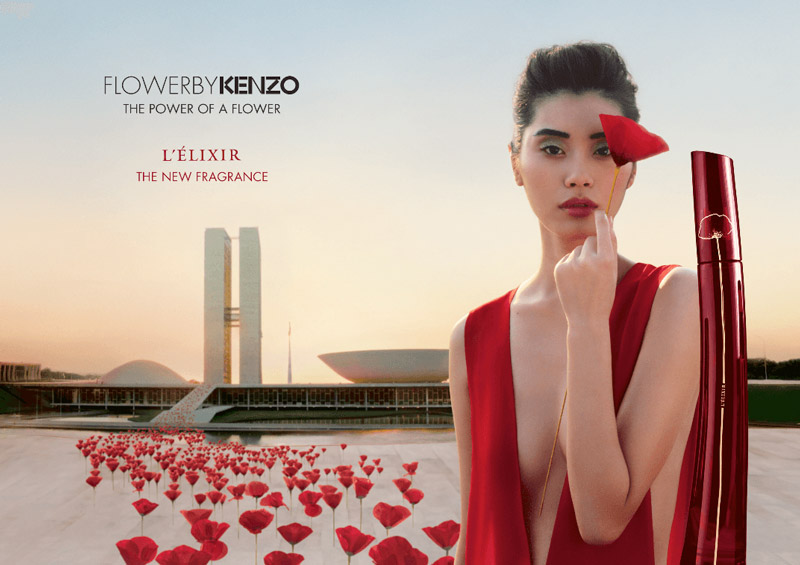 Ming Xi stars in Kenzo Flower L'Elixir fragrance campaign