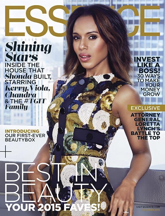 Kerry Washington, Viola Davis, Shonda Rhimes Land Essence October 2015 Covers