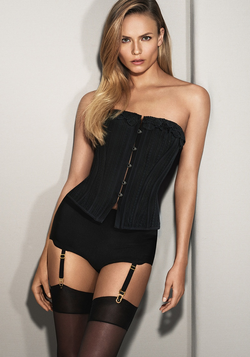 Liu Wen, Natasha Poly + Isabeli Fontana Strip Down in La Perla's Fall Collection