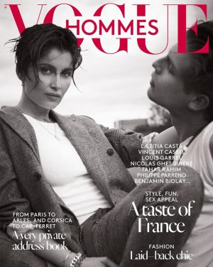 Laetitia Casta Does the Wet Hair Look for Vogue Hommes Cover