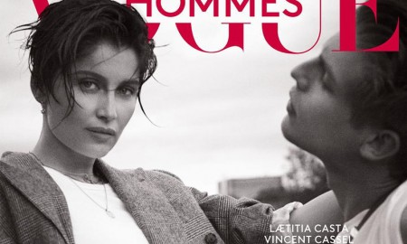 Laetitia Casta on Vogue Hommes Fall/Winter 2015 cover