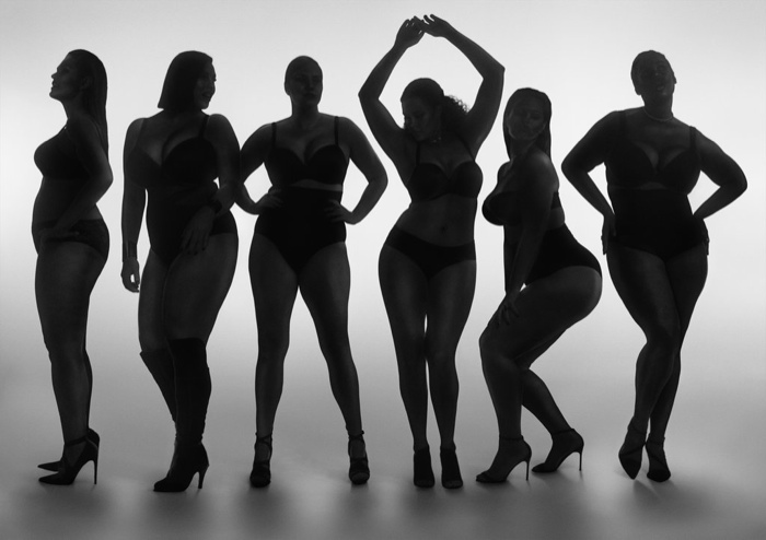 Named #PlusIsEqual, the images celebrate curvy figures