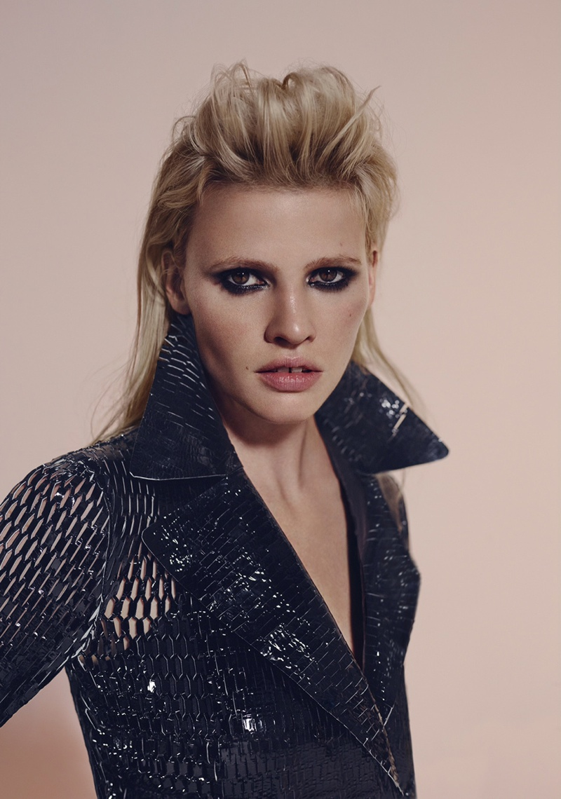 Lara Stone is Rock 'n' Roll Chic for Richard Bush in L'Express Styles