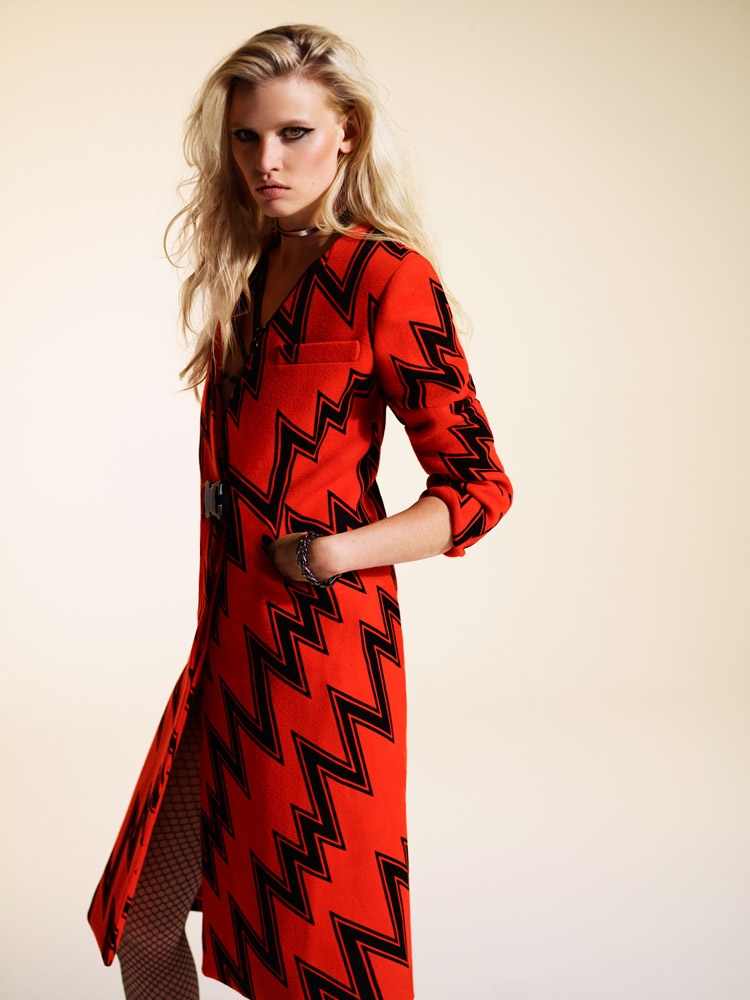 Times Style Mag: Lara Stone Models Christopher Kane In Sunday Times Style