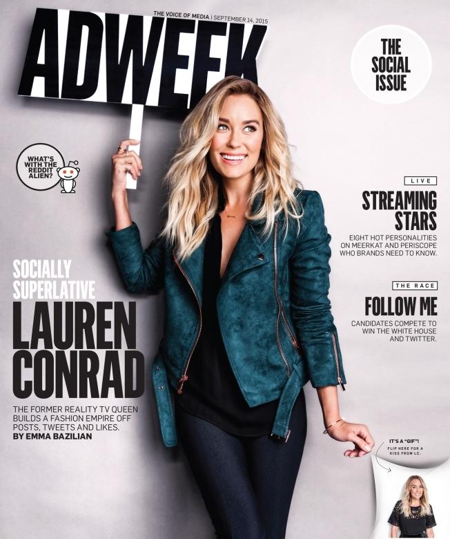 Lauren Conrad on Adweek September 14, 2015 cover