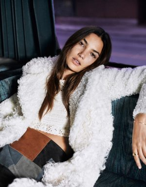 Lily Aldridge Takes On Rock Chic Style for The Edit