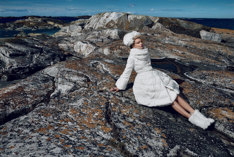 Lily Donaldson is 'The Nordic Queen' in Wintry Vogue Japan Editorial