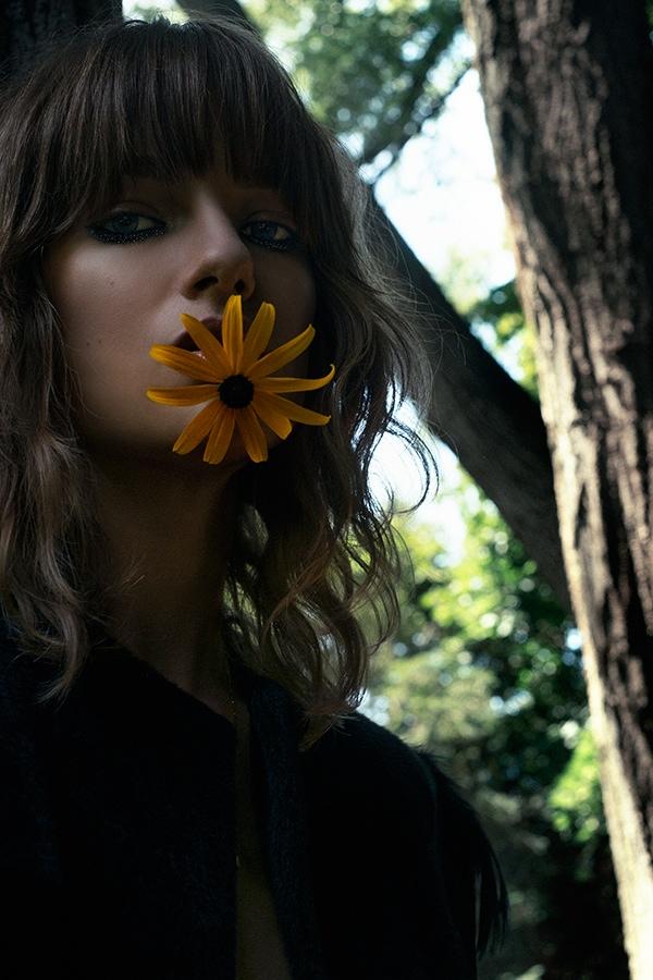 Blueberry Fields: Lisa Louis Poses Outdoors for Koala World Editorial