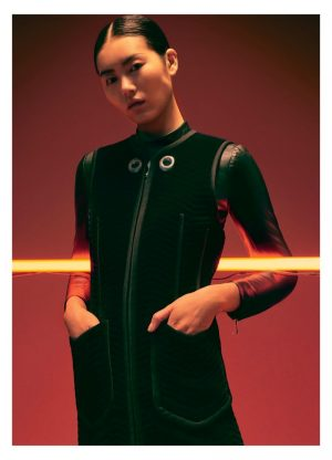 Liu Wen Poses in Retro Futuristic Looks for Modern Weekly China
