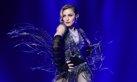 Madonna wears fringed number for Rebel Heart tour. Photo: Kevin Mazur for WireImage