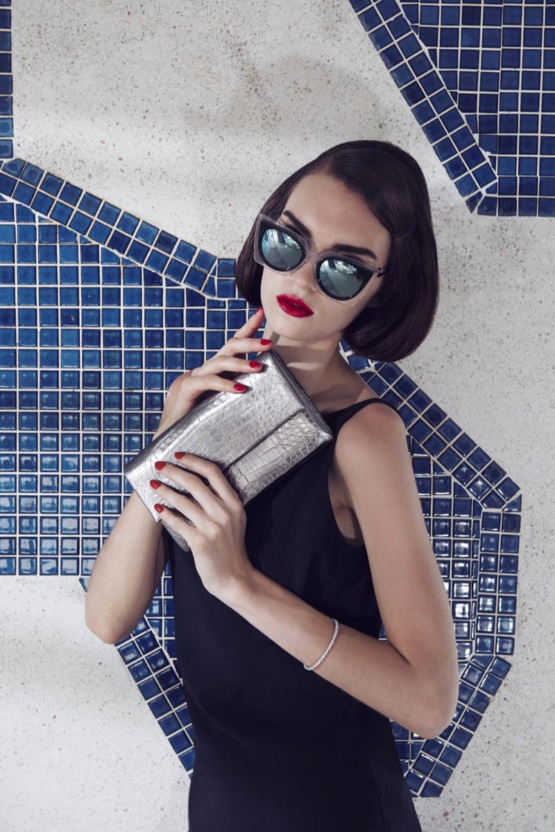Magda Laguinge Channels Her Inner Siren for Bergdorf Goodman