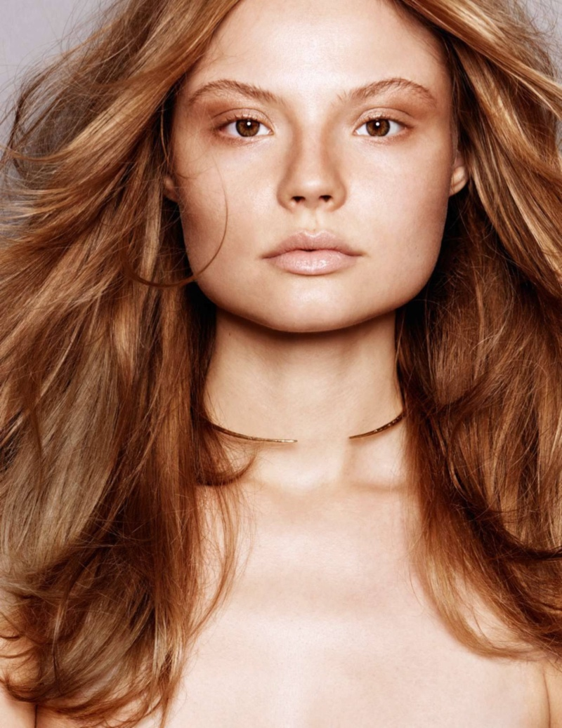 Magdalena Frackowiak Stars in Beauty Editorial for ELLE France