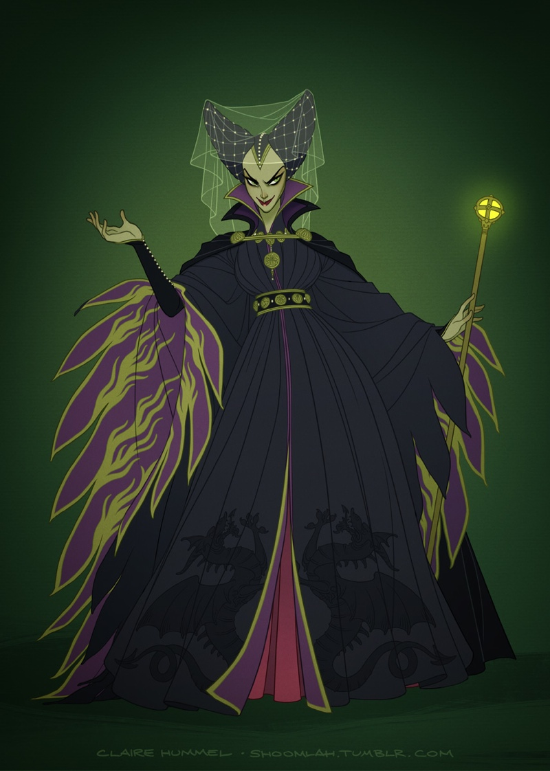 Maleficent from Sleeping Beauty (mid 1400s) Photo: Claire Hummel