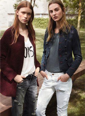Julia Hafstrom & Maartje Verhoef Model Street Style for Mango