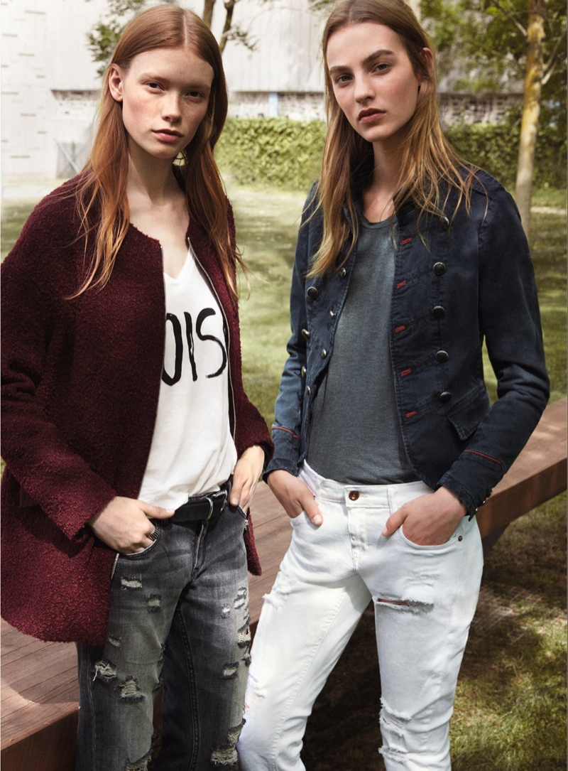 Julia Hafstrom & Maartje Verhoef Model Street Style for Mango