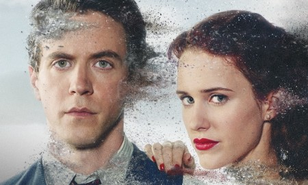 Ashley Zukerman and Rachel Brosnahan on Manhattan season 2 poster