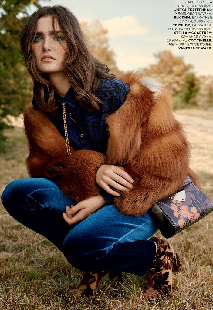 Mariia Kyianytsia Has a Seventies Flair in Editorial for Vogue Russia
