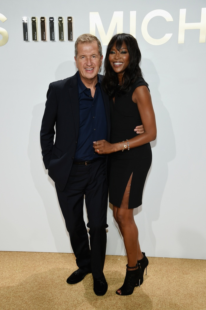 Mario Testino and Naomi Campbell at Michael Kors Gold Fragrance Launch
