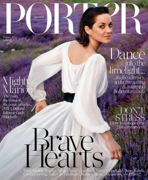 Marion Cotillard is a Vision in White for PORTER Cover