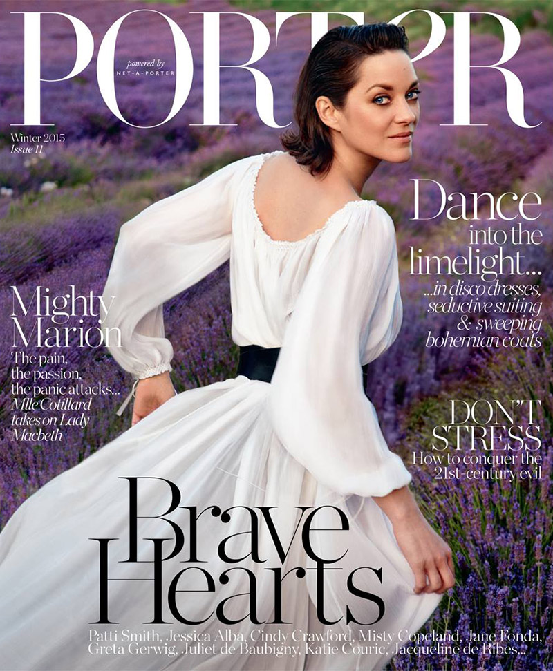 marion cotillard on porter magazine winter 2015 cover. Black Bedroom Furniture Sets. Home Design Ideas