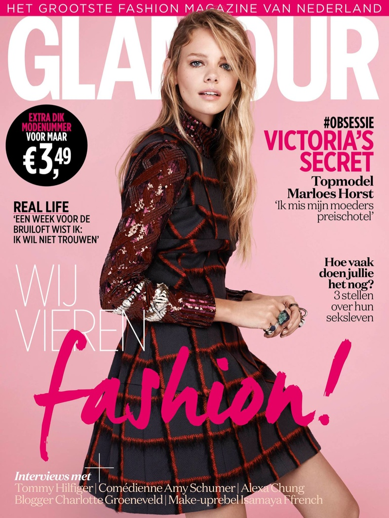 Marloes Horst on Glamour Netherlands September 2015 cover