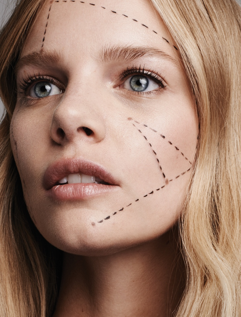 Marloes stuns in this closeup shot