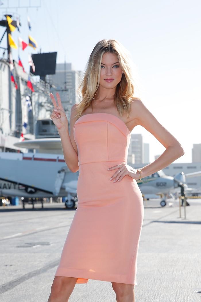 Martha Hunt at Victoria's Secret event in San Diego, California