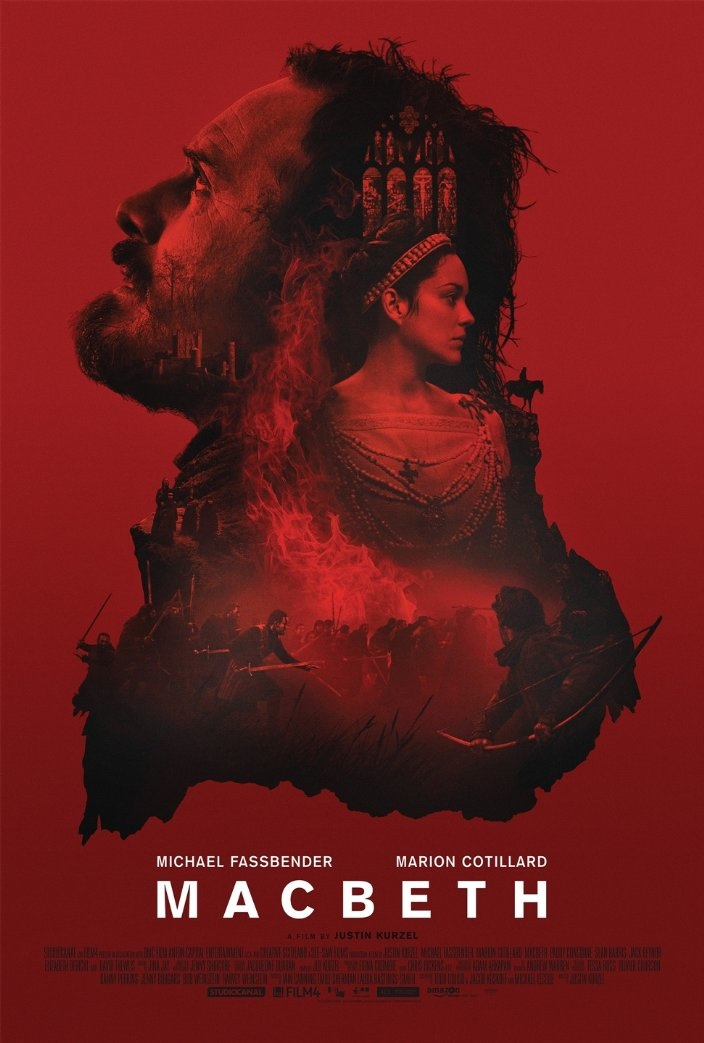 Macbeth poster with Michael Fassbender and Marion Cotillard