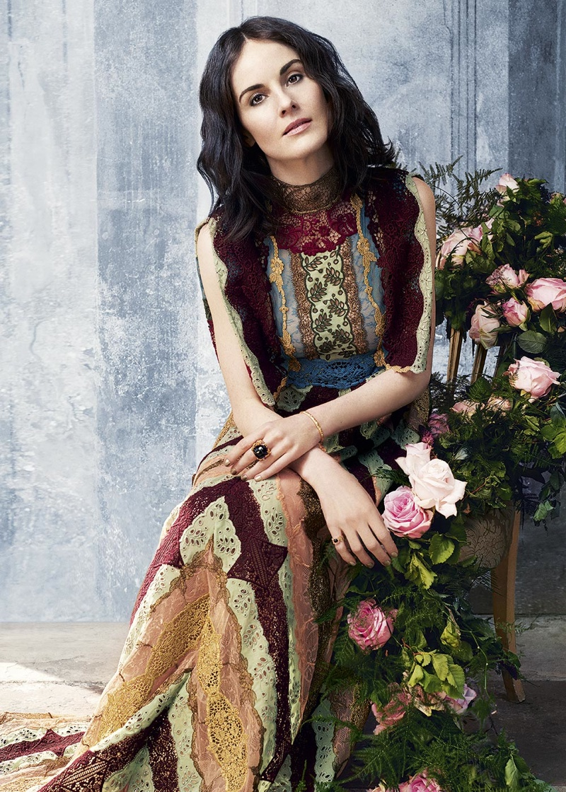 Michelle Dockery wears Valentino gown in Harper's Bazaar UK
