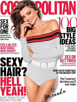 Miranda Kerr on Cosmopolitan Australia October 2015 cover